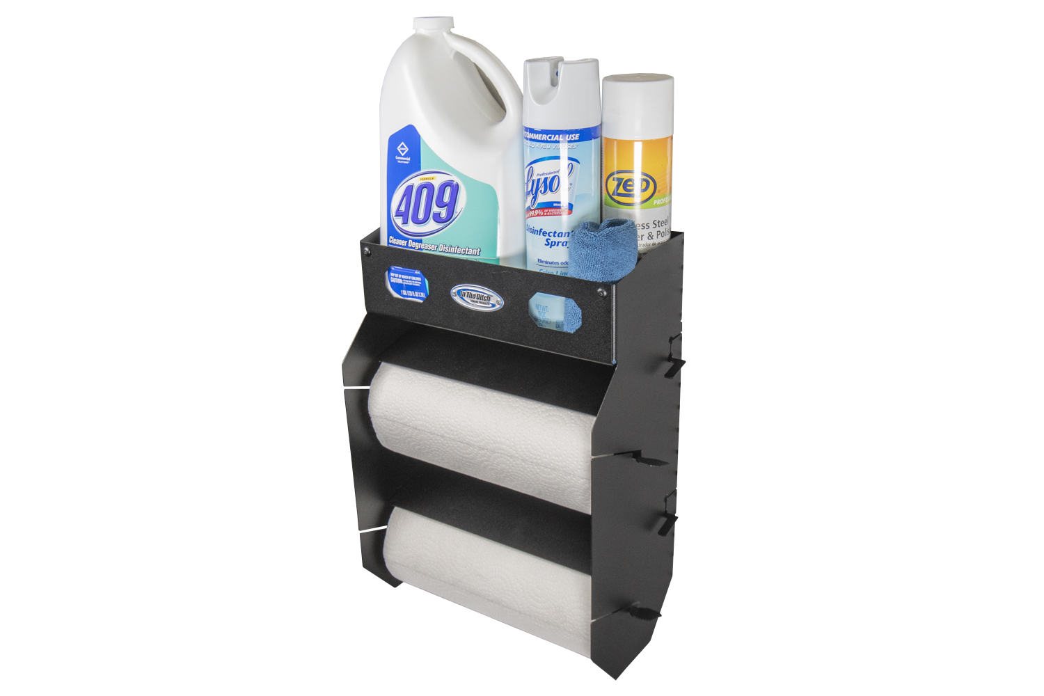 465 In The Ditch Garage Paper Towel Holder Double w Shelf ITD1765