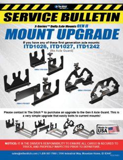 ITD Service Bulletin Gen II Axle Upgrade ITD0790