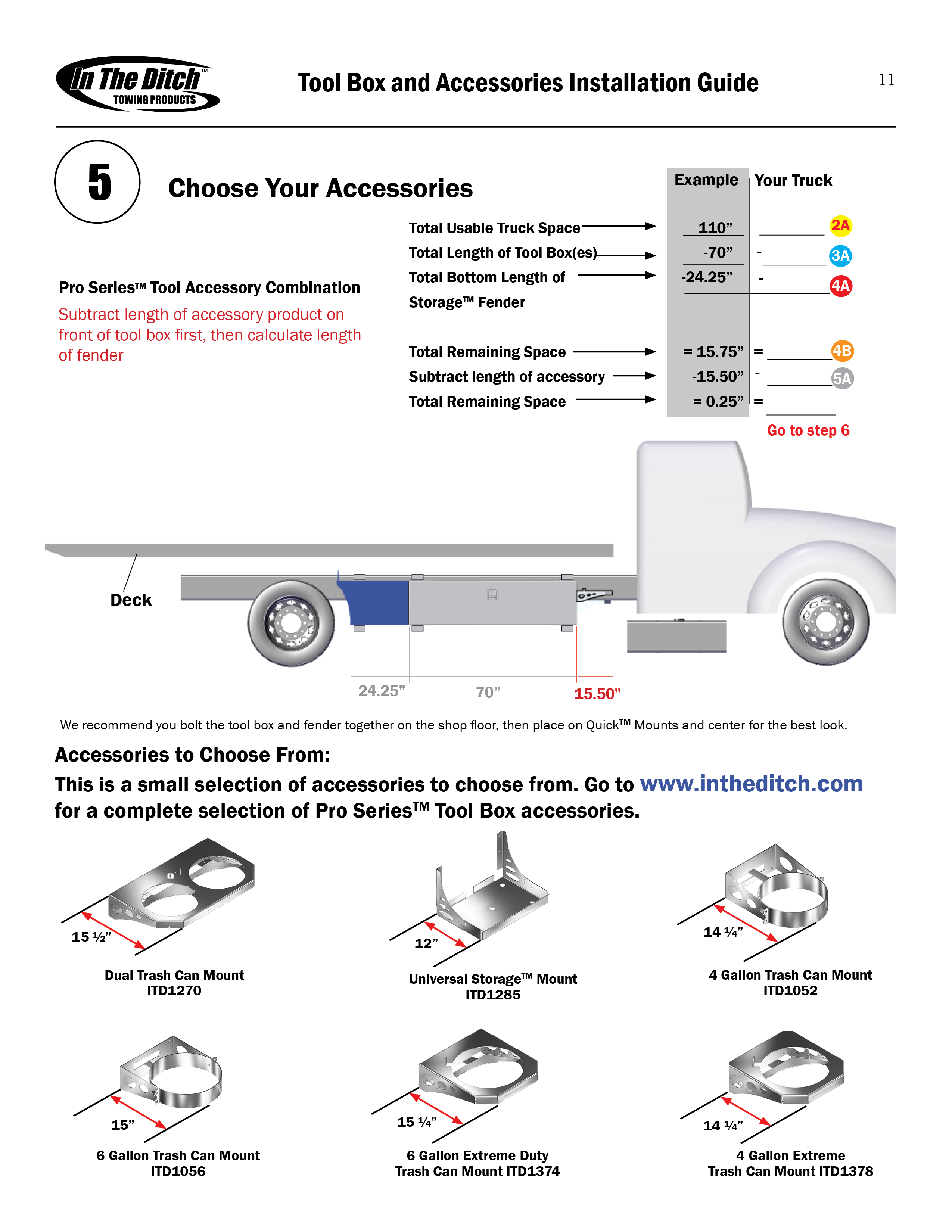ITD0250 ITD Tool Box and Accessories Installation Guide5
