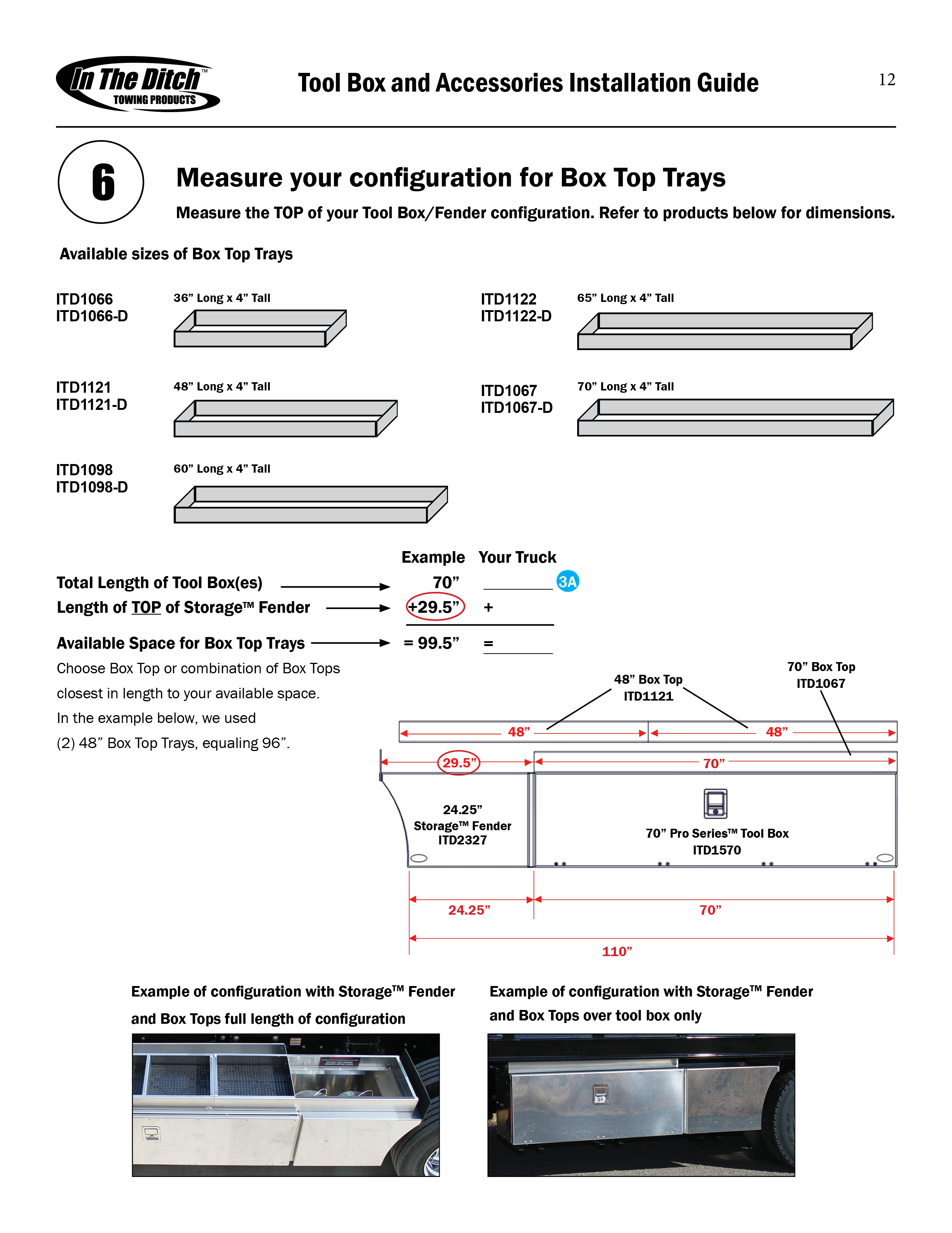 ITD0250 ITD Tool Box and Accessories Installation Guide6