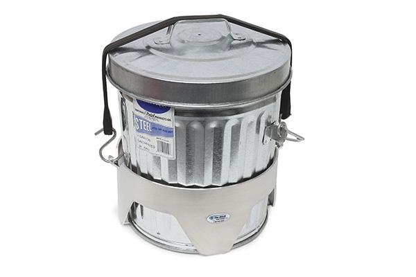 ITD1050 4 Gal Aluminum Trash Can Mount 2