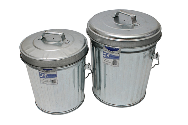 ITD1087 6 GAL Galvanized Steel Trash Can and Lid 4GAL+6GAL BeautyTop