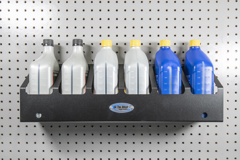 ITD1884 6 Quart Oil Bottle Holder 6 Can Rack 5
