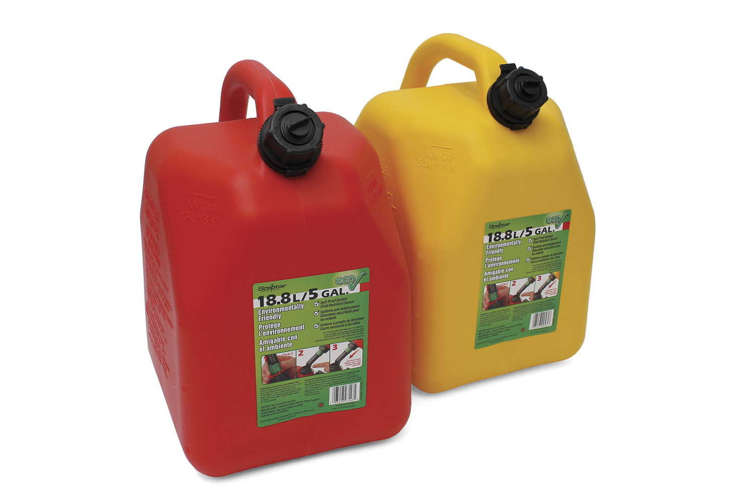 ITD7042 yellow CARB Compliant Fuel Can 4
